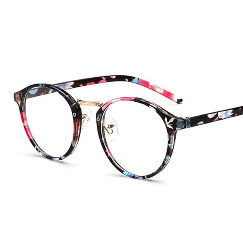 Compre Mulheres Optical Rodada Óculos De Armação Retro Claro Lente Falsa  Óculos Miopia Armações De Óculos Quadros De Flores Dos Homens De  Marquesechriss, ... ce2a1e920c
