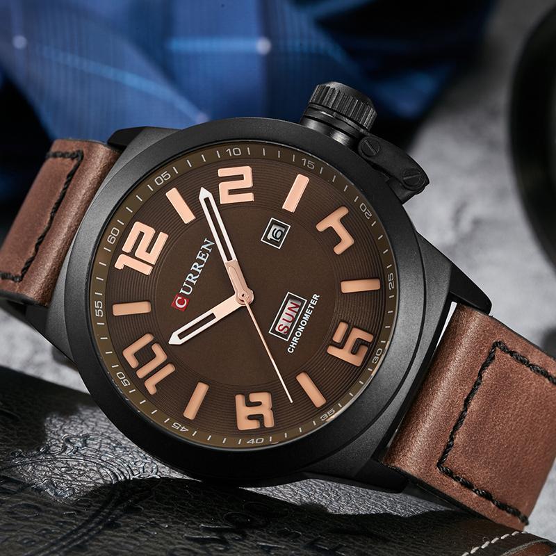 85072ca77d6 Compre Mens Marca De Moda Curren Relógio Homens Relogio Masculino De  Quartzo Relógio Mens Relógios Top Marca De Luxo Esporte Relógio De Pulso De  Wonderline2 ...
