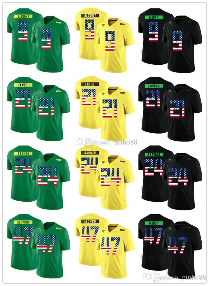 4a34bcd9fb5 2019 Custom Men Women Oregon Ducks Football Jersey 9 LeGarrette Blount  Kenjon Barner Kiko Alonso LaMichael James National Flag Version Shirts From  Pinbo88
