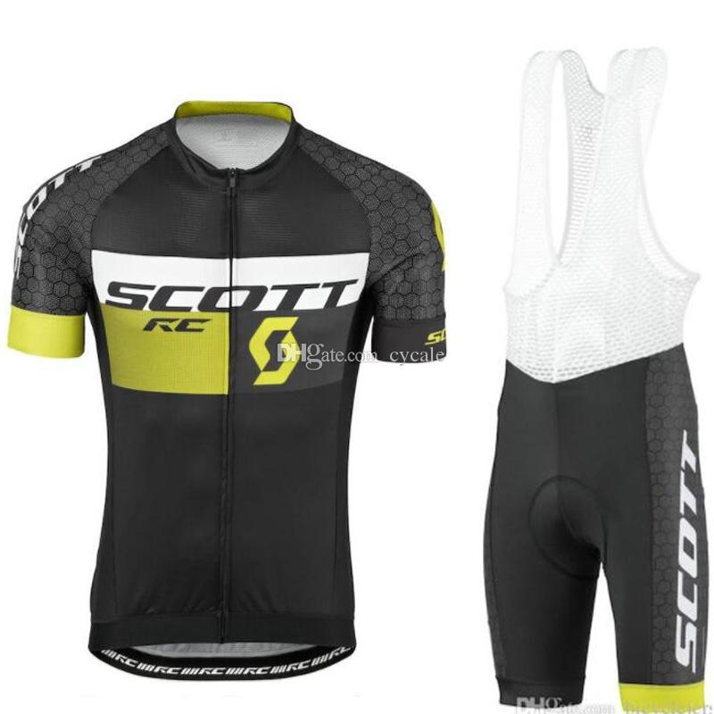 2019 SCOTT Summer Cycling Set Men Bike Clothing Bicycle Wear Maillot Ropa Ciclismo Short Sleeve Cycling Jersey Sets Bib Shorts