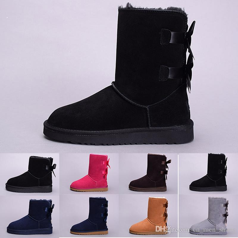 381b2a920e 2019 Cheap Hot New winter Australia Classic snow Boots good fashion WGG  tall boots real leather Bailey Bowknot women s bailey bow Knee Boots