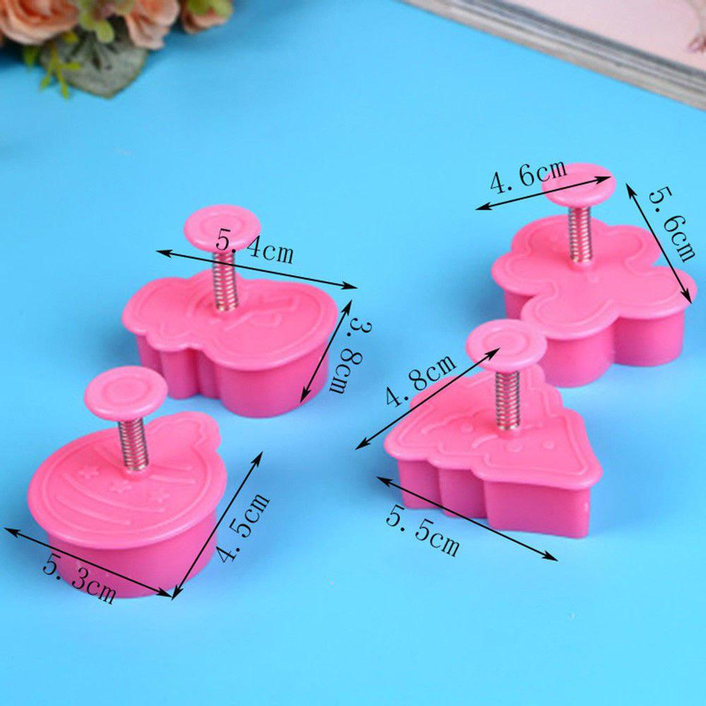 New /pack Cookie Stamp Biscuit Mold 3D Cookie Plunger Cutter DIY Baking Mould Gingerbread House Christmas Cookie Cutters
