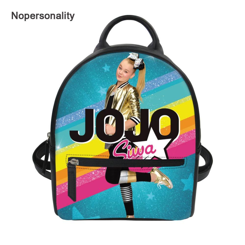 fb10de4c6e Nopersonality Hipster Jojo Siwa Bag Backpack For Women Mini Teenager Girls  School Bookbag Small Leather Travel Shoulder Bags Hunting Backpacks Gregory  ...