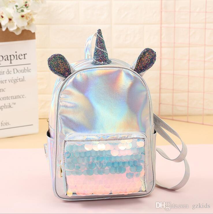 3d75498dcc5c0 Satın Al PU Payetli Sırt Çantası Unicorn Öğrenci Sevimli Schoolbag  Karikatür Kız Omuz Bayan Seyahat Çantası 2019 Yeni Stil, $14.85 |  DHgate.Com'da