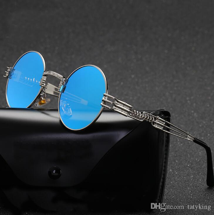 016b987bf80 Tatyking Optical Round Metal Sunglasses Steampunk Men Women Fashion ...