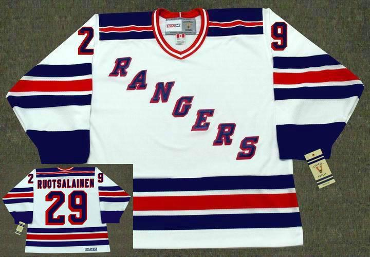 2019 Men Women Youth New York Rangers 1982 CCM Vintage Goalie 28 TIE DOMI  29 REIJO RUOTSALAIN 32 STEPHANE MATTEAU 99 Wayne Gretzky Hockey Jersey From  ... a8265d5ad