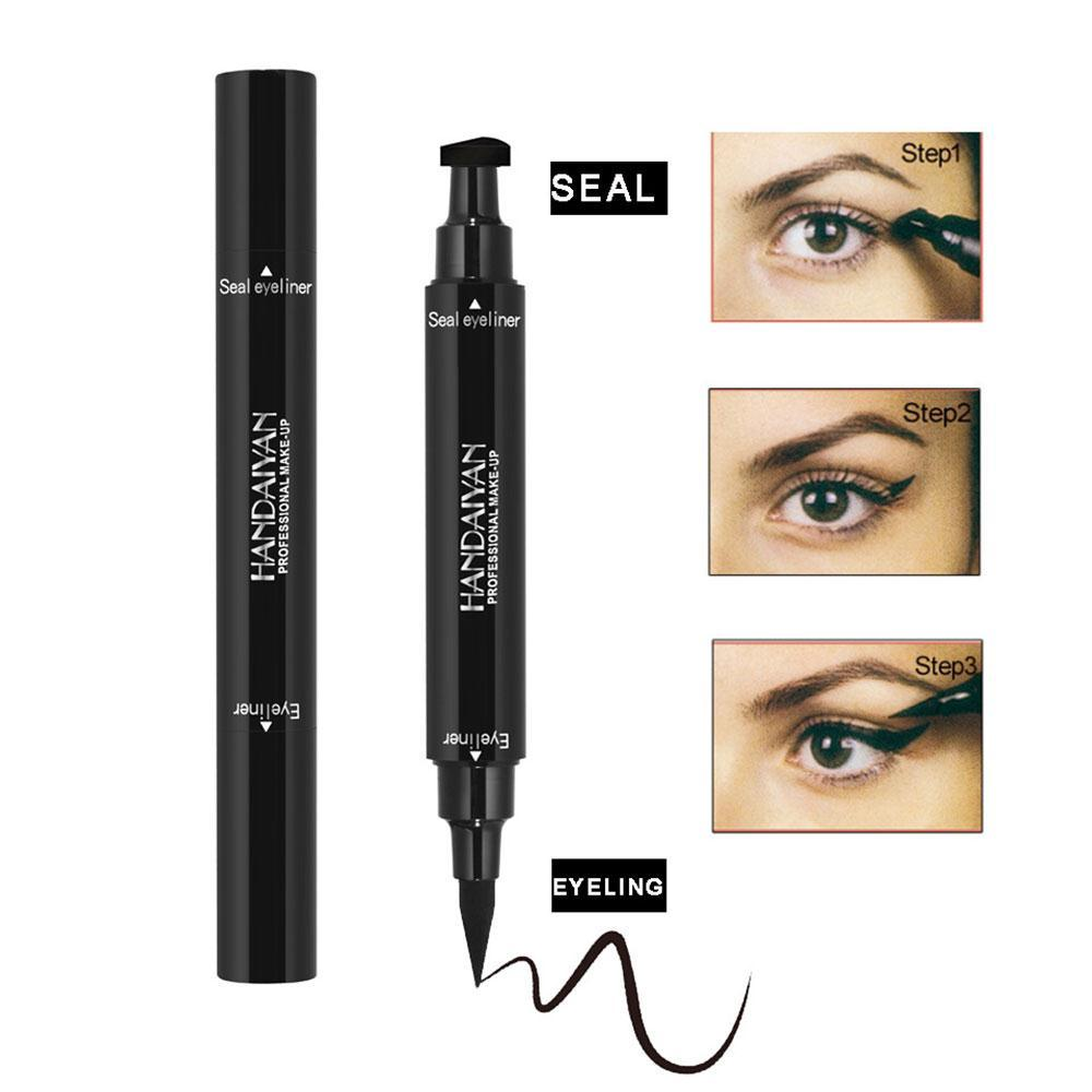 Natural waterproof eye liner pen fast dry drawing pro eyeliner stamp pencil smooth cosmetic access professional women beauty make up brush set make up kits