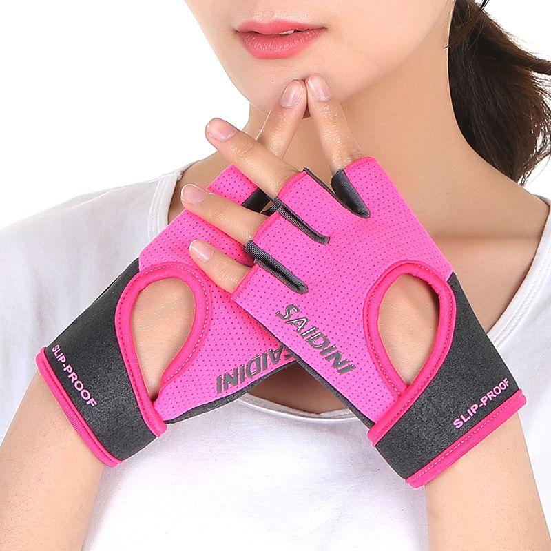 Women Men Sports Half Finger Gloves Workout Gym Training Yoga Weight Lifting Hot