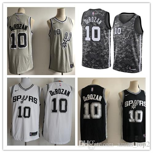 2019 New The City Jerseys 10 DeRozan Jersey Stitched Mens San Antonio  DeRozan Spurs Basketball Jerseys White Black Gray Basketball Shorts Italian  Shirts ... 283c9482a