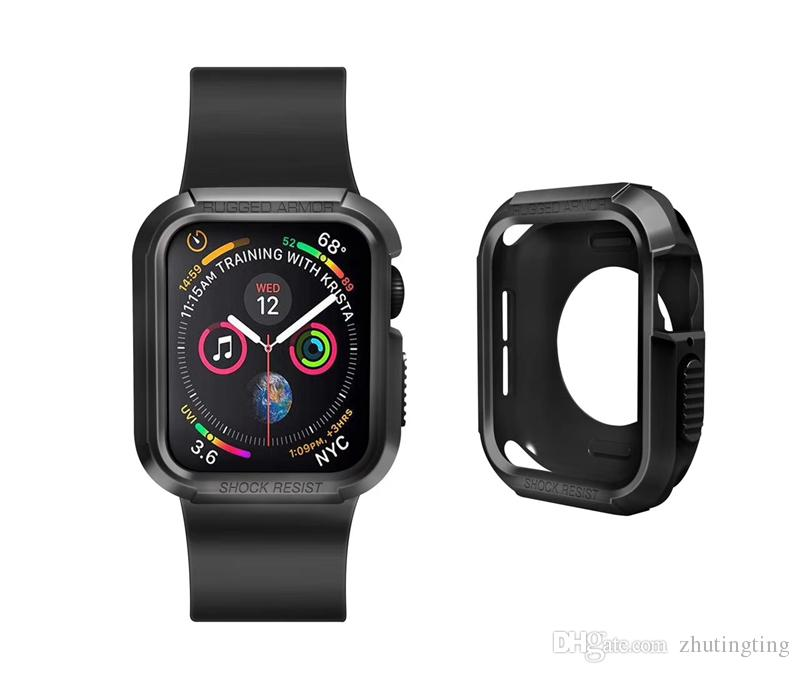 new concept 73282 575b4 Rugged Armor Designed for Apple Watch Case for 40mm 44mm Series 4