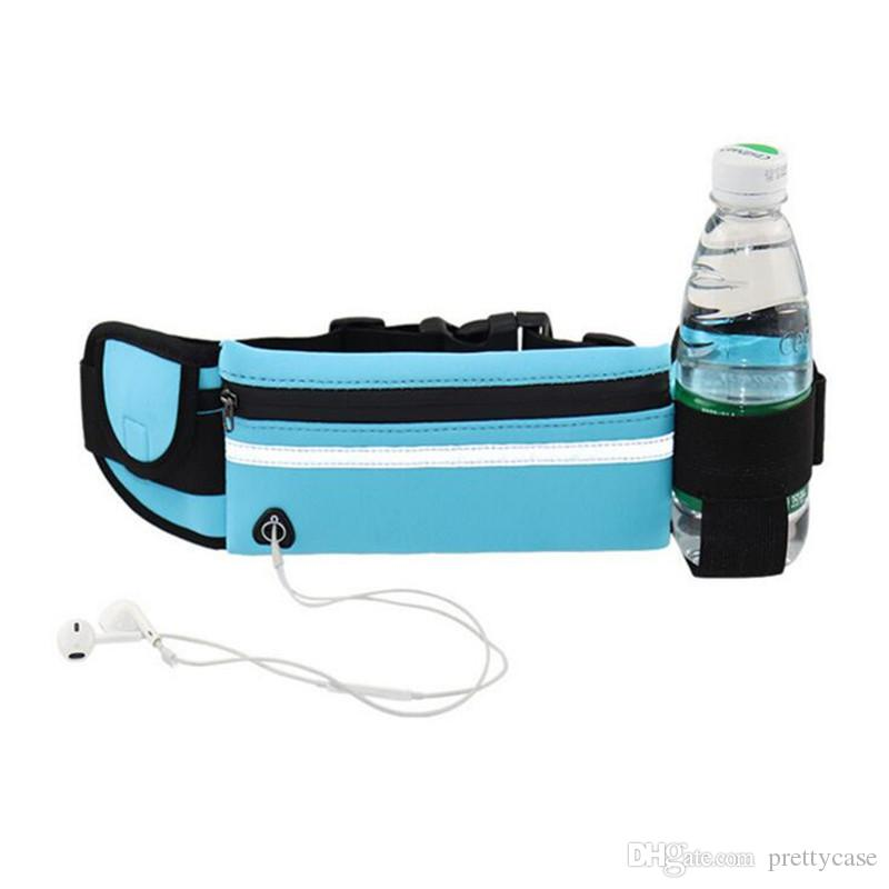 Running Fanny Pack with Water Bottle Holder Waist Pack Adjustable Elastic Strap Running Pouch for Fitness Running Cycling