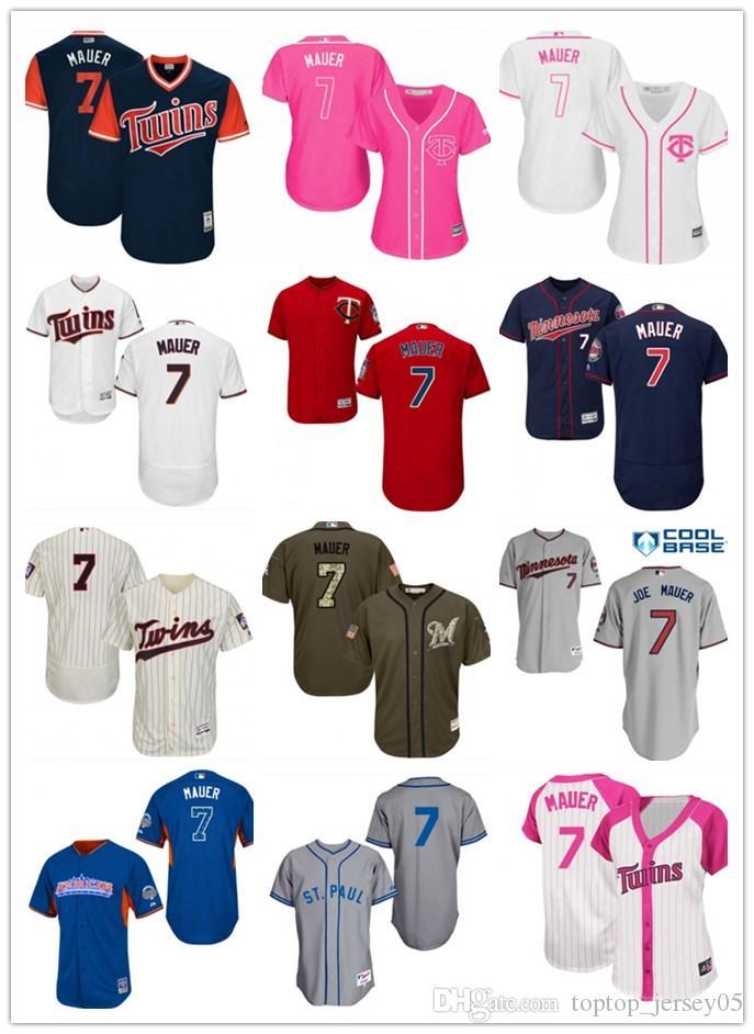 7e05930061a 2018 top Minnesota Twins Jerseys #7 Joe Mauer Jerseys men#WOMEN#YOUTH#Men's Baseball  Jersey Majestic Stitched Professional sportswear