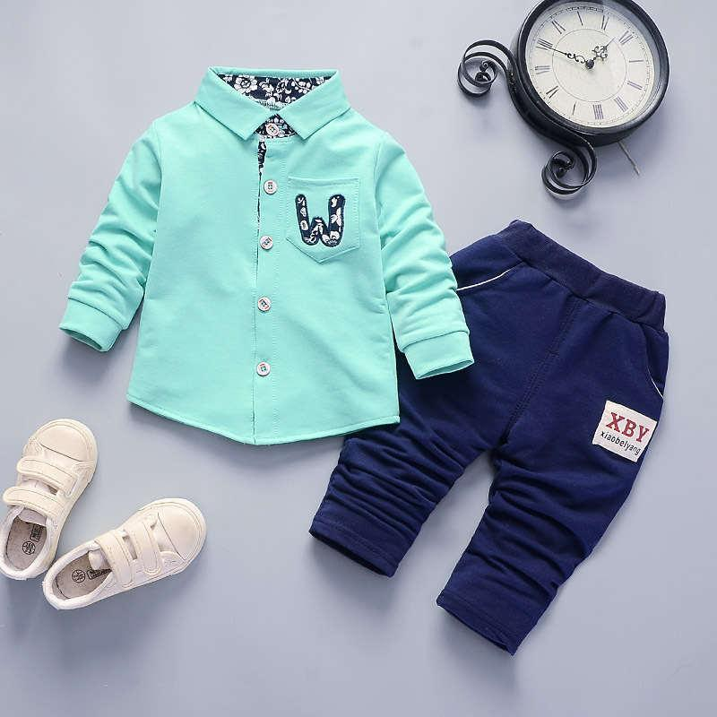 good quality Baby Boy Clothing Sets Spring Clothes Top +Pant 2Pcs Outfits Children Boys Formal Party Clothes Sets For Boys