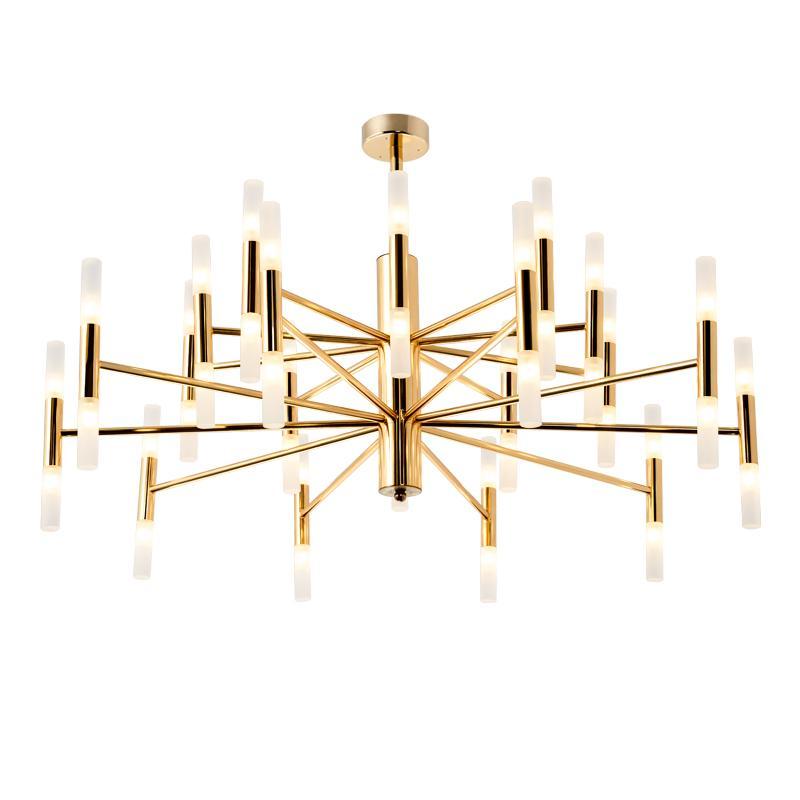 62ba1338d464 Compre Venta Al Por Mayor Moderno LED Lámparas De Araña Luces Salón Comedor  Dormitorio Art Deco Colgante Luz Oro Negro A  264.39 Del Zhongfulamp