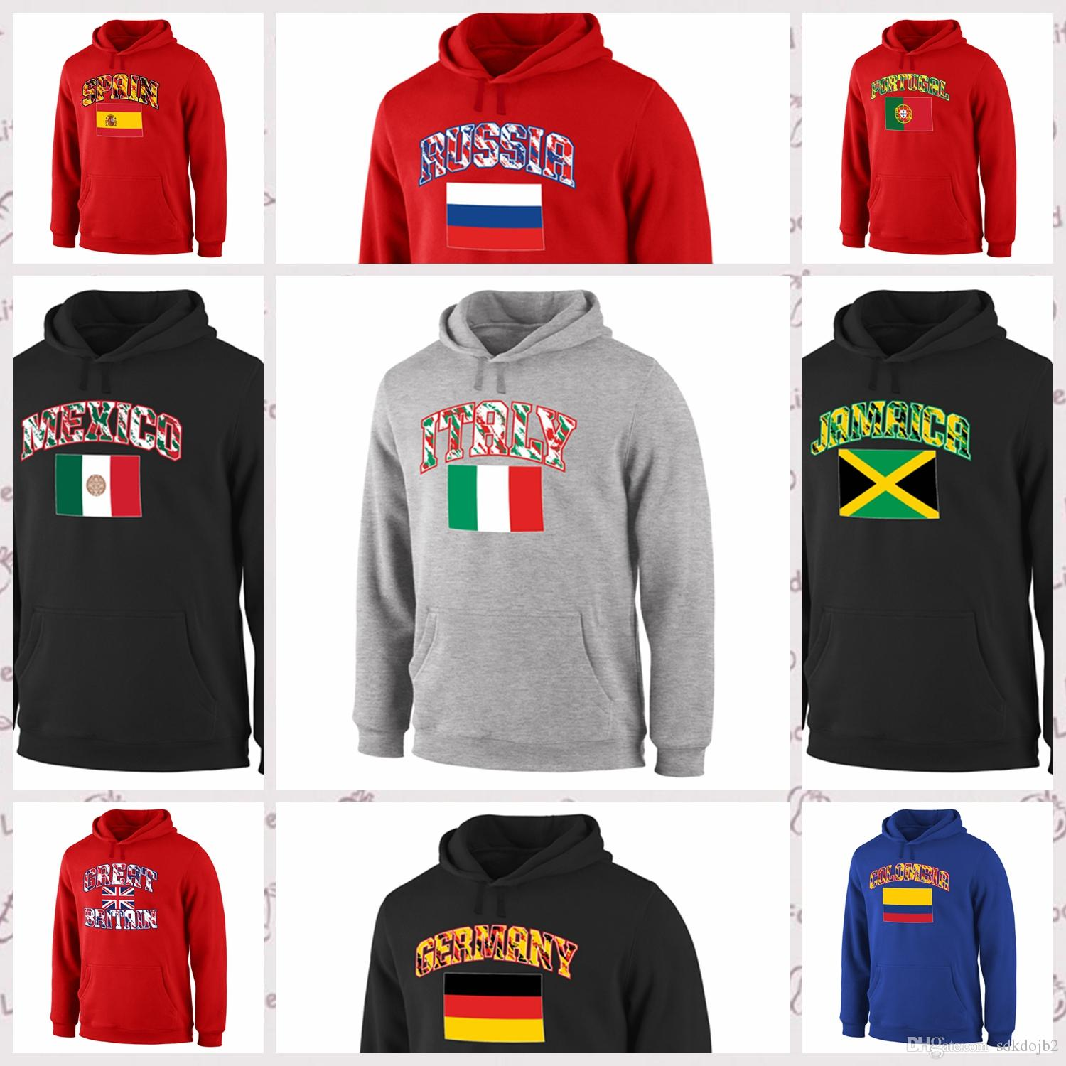 ac42acd23b4be 2019 Spain Fanatics Mexico Soccer Fanatics Portugal Fanatics And More  Branded True Colors Pullover Hoodie Red Black And More From Sdkdojb2