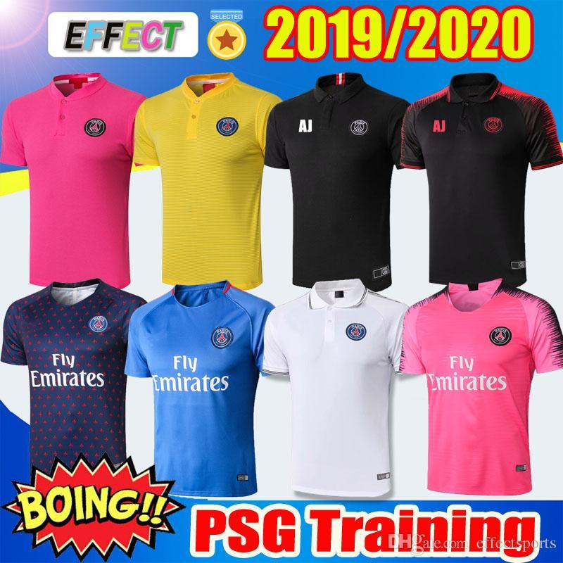 803b1c8d8 2019 2019 PSG Soccer Training Shirts Maillot De Foot 18 19 MBAPPE Soccer  Jerseys Kit Survetement 2020 Paris Saint Germain Football POLO Shirts From  ...