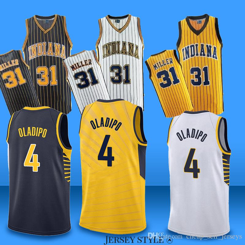 0475ec46ba0 2019 Cheap 31 Miller PACERS Pacers Indiana 4 Oladipo Jerseys Reggie Jerseys  Basketball Jersey 2019 2018 New From Cheap sell jerseys