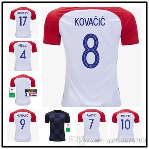 4694556009df6 Compre Nova Copa Do Mundo 2018 Croata Futbol Camisa Rakitic Modric Brozovic  Kovacia Camisas De Futebol Croacia Camisa De Futebol Camisetas Kits  Maillots De ...