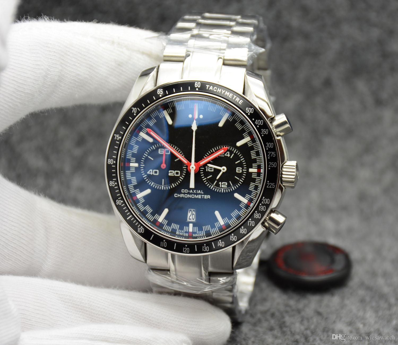 d4a737cdc3ca Compre Trabajo Cronógrafo Velocidad Cuarzo Hombres 300 Racing Master Co  Axial Moonwatch Professional Spectre Date Hombre Negro Naranja Relojes  Relojes De ...