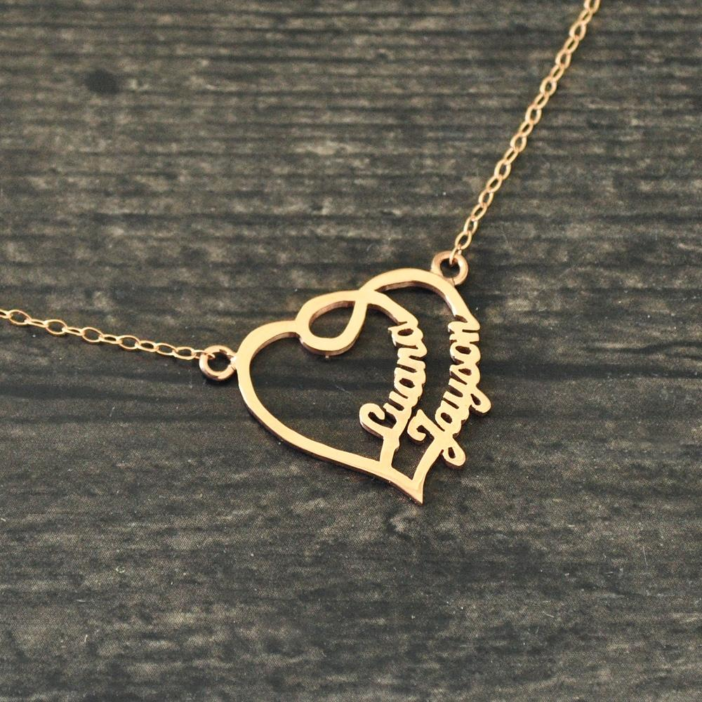 55bb9de4f4 Personalized Heart Name Necklace, Couples Name Necklace, Name Heart Necklace,Gift  For Her,Custom Necklace Canada 2019 From Redjune, CAD $16.81 | DHgate ...