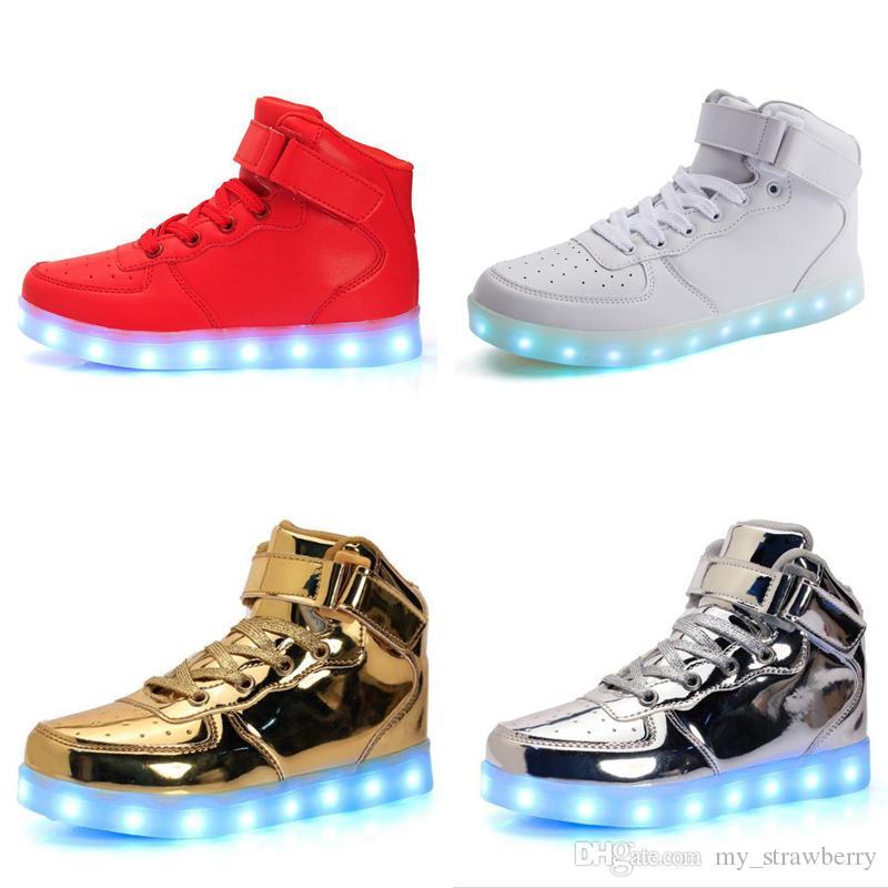 Luminosos Carga Zapatos Usb Compre Hombres Es w4qZx8IO