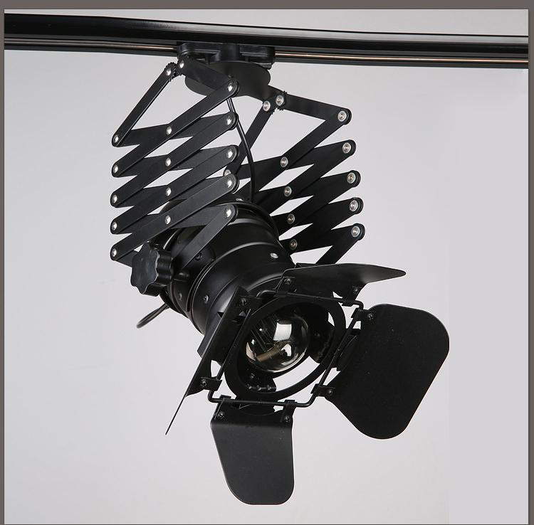 Retro Four Leaf Industrial Loft Led Track Light E27 LED Store Lighting 4-50W Focos LED con cubierta ajustable negro