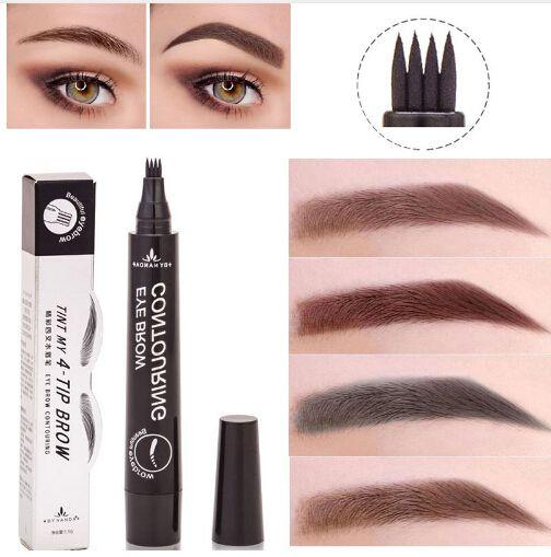 Makeup Microblading Tattoo Eyebrow Pencils Waterproof Fork Tip ...