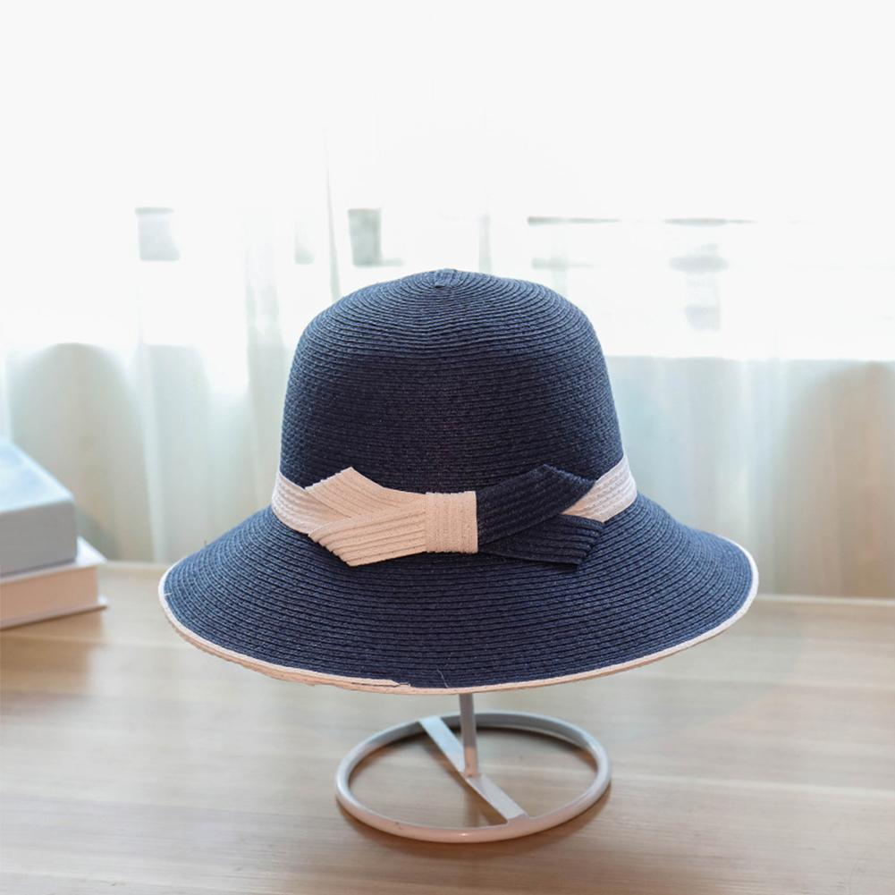 a20943e8d Cyclamen9 Eleagance Women'S Big Brim Sun Hat Floppy Foldable Bowknot Straw  Hat Summer Beach HatBlack Pork Pie Hat Snapback Hats From Ericgordon, ...