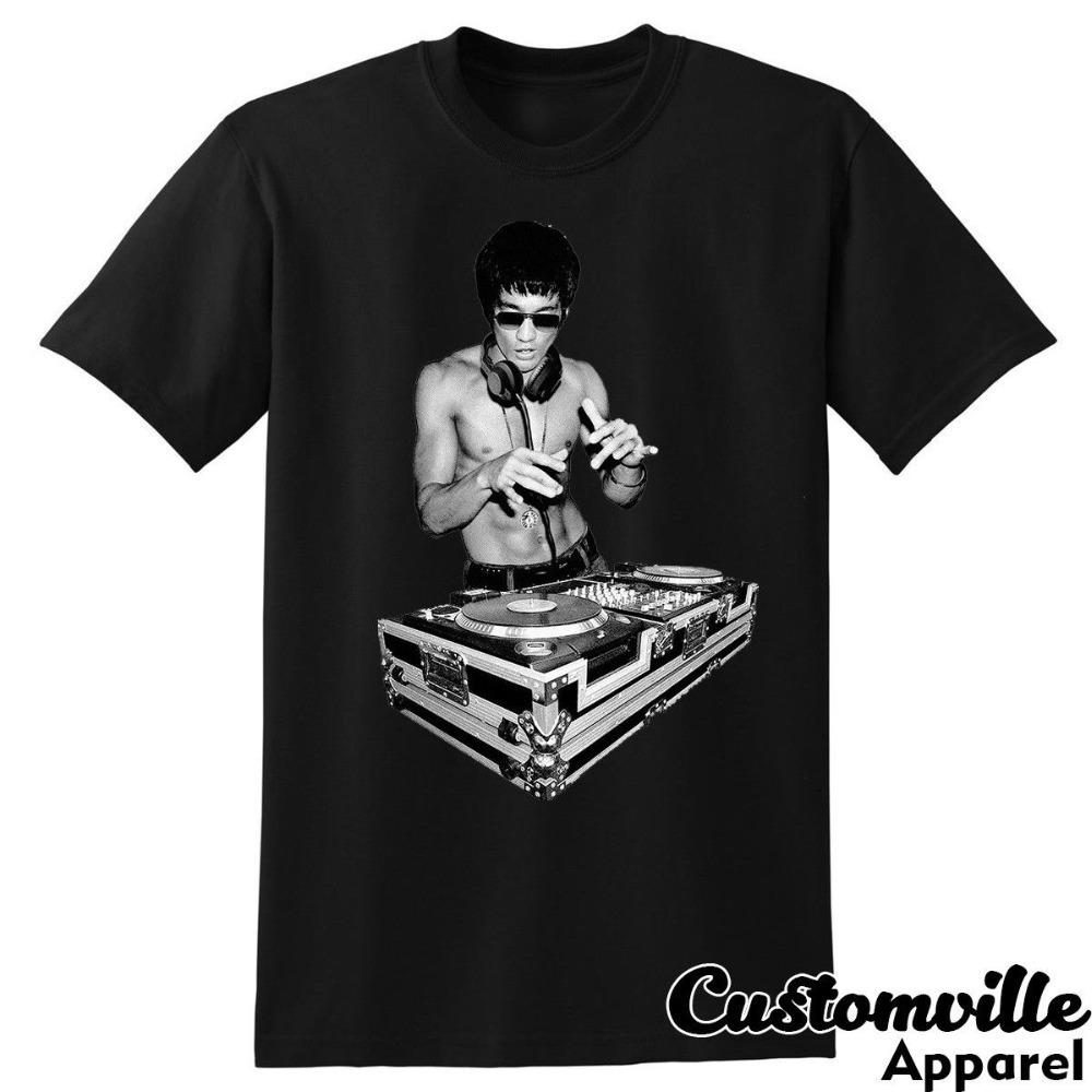 buying now best choice biggest discount Bruce Lee Dj Unisex T-shirt. Funny Tony Stark Movie Fans Kung Fu Summer  Fashion Letter Printed Cotton T Shirt Custom Tees J190525