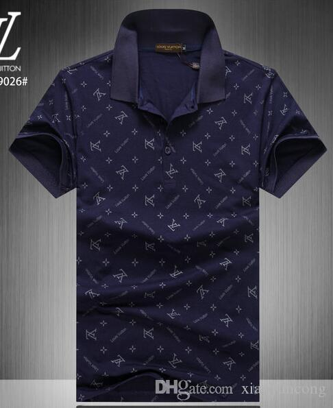 e44c5ff3a73a 2019 Men S Casual Striped T Shirt 2019 New Fashion Lapel POLO Shirt Luxury Designer  Brand Embroidery Printing Cotton High Quality T Shirt  66319 From ...
