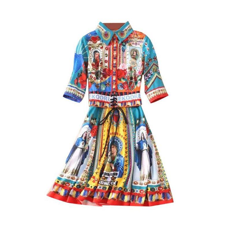 0415a9e3e Compre 4.15 Lembrança Para Notre Dame De Paris Mulheres Vestido Formal  Elegante Luxo 3D Impresso Camisa Vestido Casual Primavera Verão Vestir Mais  Novo ...