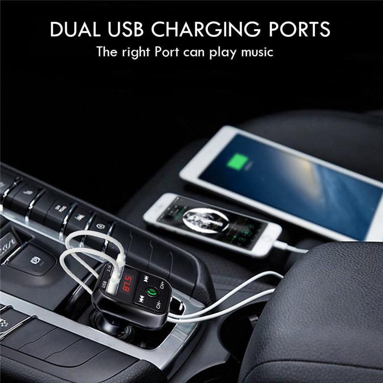 Newest B2 Wireless Bluetooth Multifunction FM Transmitter USB Car Charger Mini MP3 Player Car Kit Holder TF Card HandsFree Headset Modulator