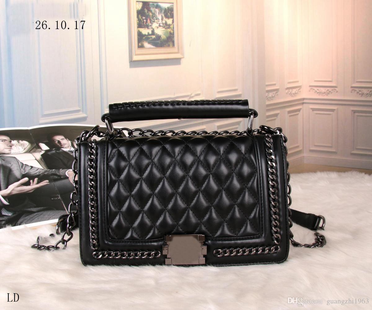 31b13eef35 Fashion Women Vintage Quilted Bag Famous Brand MICHAEL KALLY Handbags  Luxury Designer Leather Chain Bags Messenger Shoulder Tote Bag Bags Women  Bags Women ...