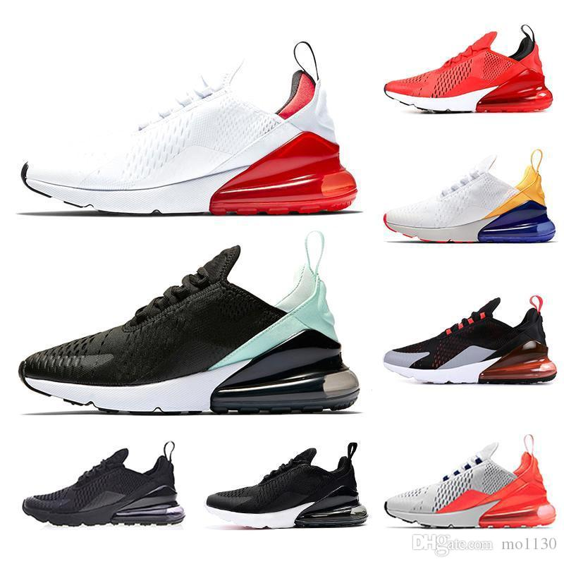 a844f1ee63 Cheap 270 Cushion Running Shoes Men Women University Red Tiger Total Orange  Cactus Be True Triple White 270s Trainer Sports Designer Sneakers
