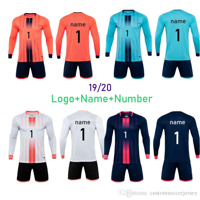 1920 New Goalkeeper Football Jerseys Adult and Kid Custom Football Sets For Goalkeeper Football Training Running Sport Kits