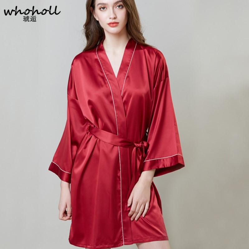 62c6c6590 Plus Size Nightgown For Ladies Lace Satin SleepWear Silk Nighty Sleeping  Dress Sleece Bathrobe Sexy White Red Black Sleepshirts Canada 2019 From  Romperpant