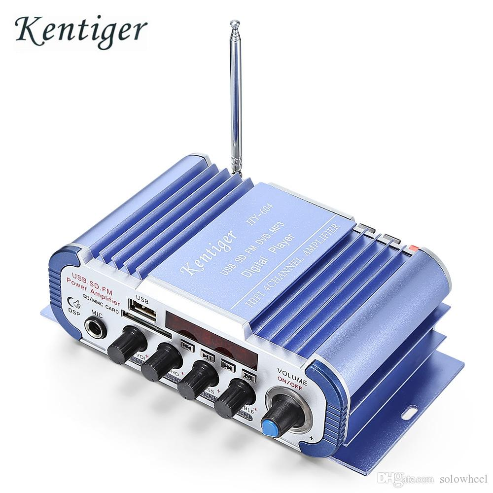 Kentiger HY - 604 HiFi 4-channel Stereo Car Audio Remote Control Amplifier