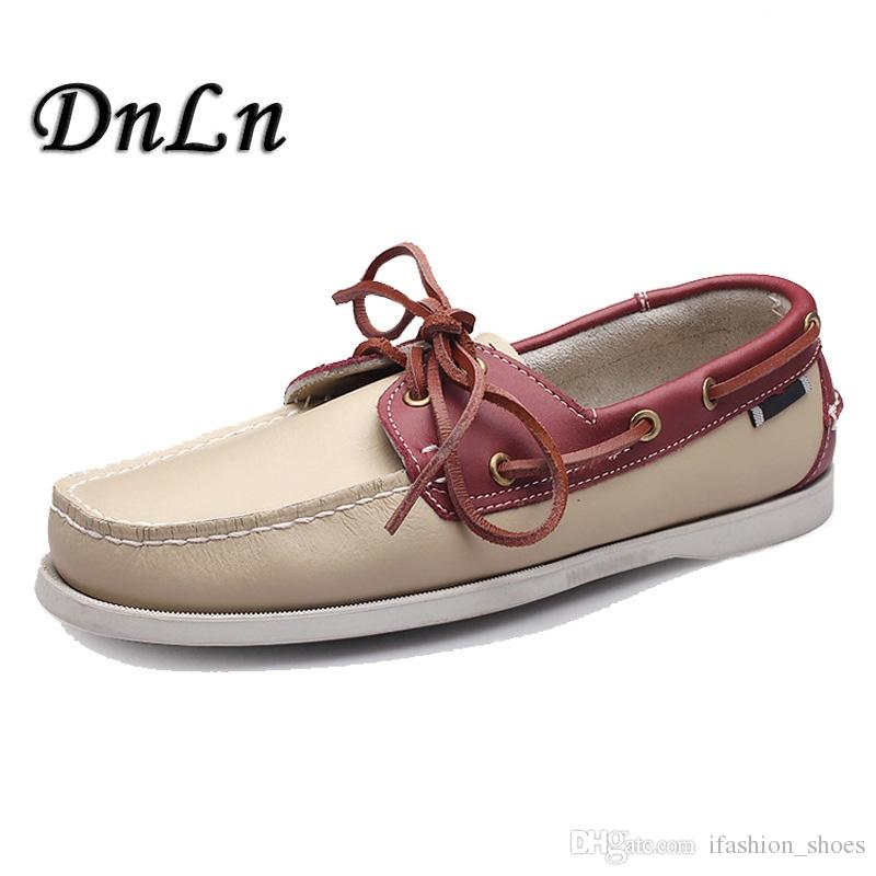 017f07d2f31 2018 Men's Boat Shoes Fashion Handmade Male Moccasins Shoes High Quality  Genuine Leather D50 #36842