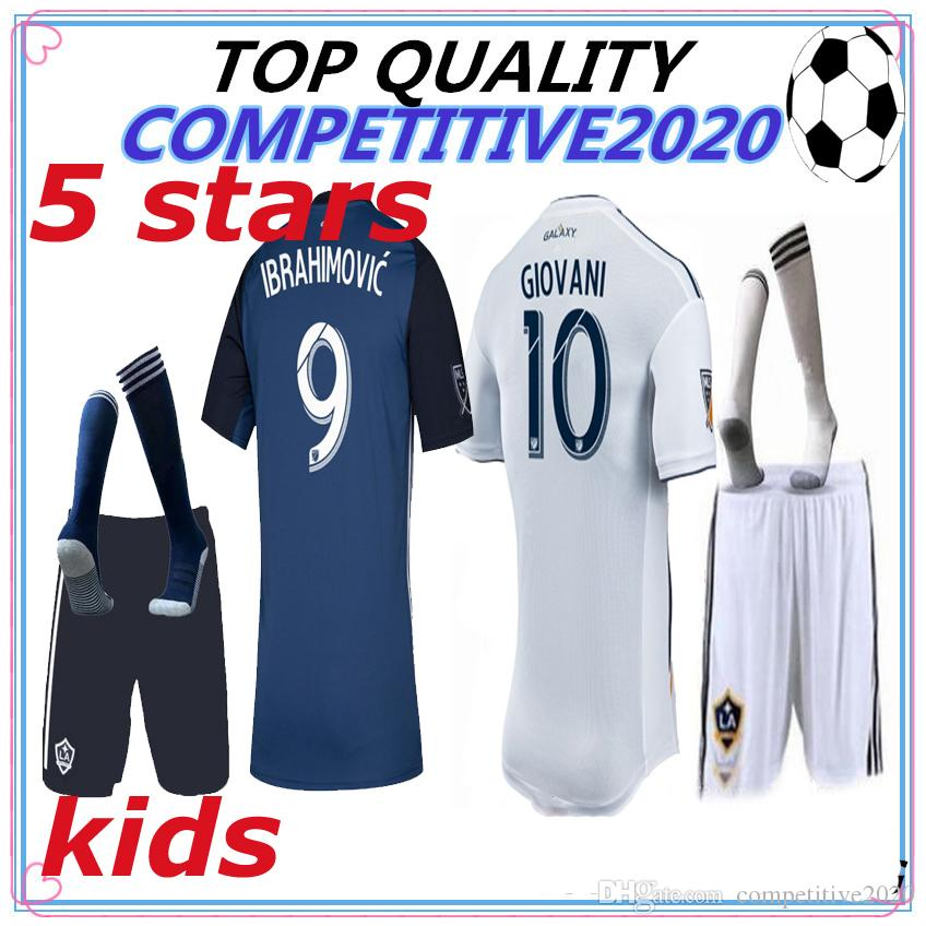 half off 61e8b cd3f8 kids kit 2019 2020 Thailand MLS La galaxy zlatan IBRAHIMOVIC Soccer Jerseys  19 20 Los Angeles Galaxy GIOVANI J.DOS SANTOS Football Shirts