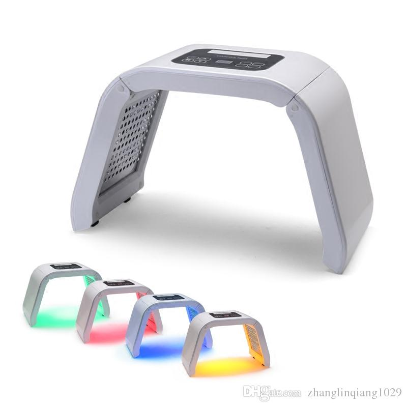 Korea Portable OMEGA Light PDT LED Therapy Red Blue Green Yellow 4 Color Face mask body Light Phototherapy Lamp Machine Skin Rejuvenation