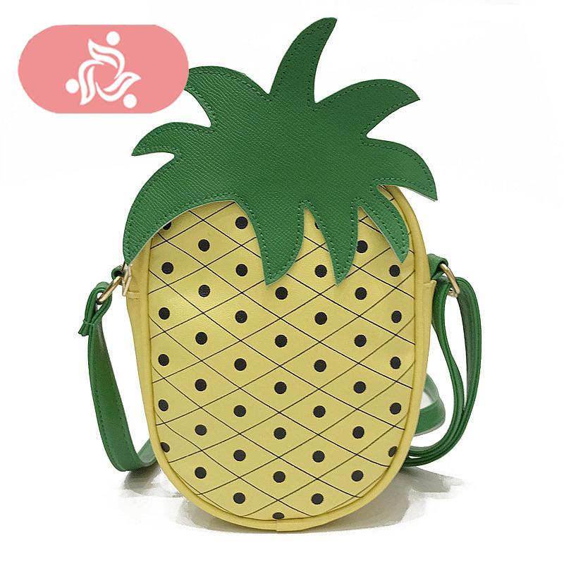 f0c5609f609 Cute Funny Pineapple Strawberry Shaped Messenger Bag Cute Women Mini Fruit  Design Shoulder Bag Crossbody Bags For Girls Sac