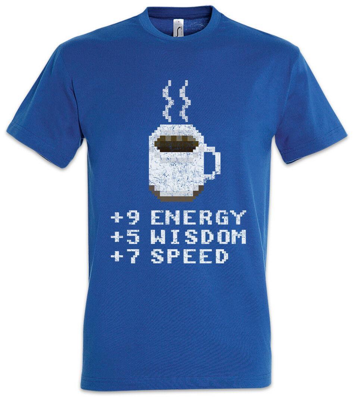 Pixel Coffee T-Shirt Gamer Games Gaming Fun Geek Nerd RPG MMORPG Larp  Roleplay Funny free shipping Unisex Tshirt top
