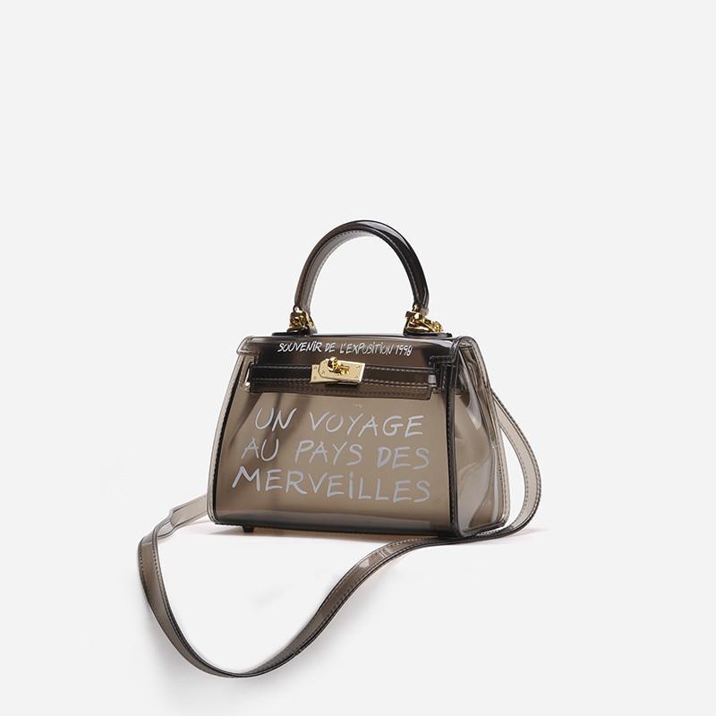 674c11d09d62 Summer Transparent Women Bag 2019 New High Quality Pvc Jelly Bag Portable  Beach Bags Cute Travel Women Shoulder Messenger Bag Ladies Purse Leather  Briefcase ...