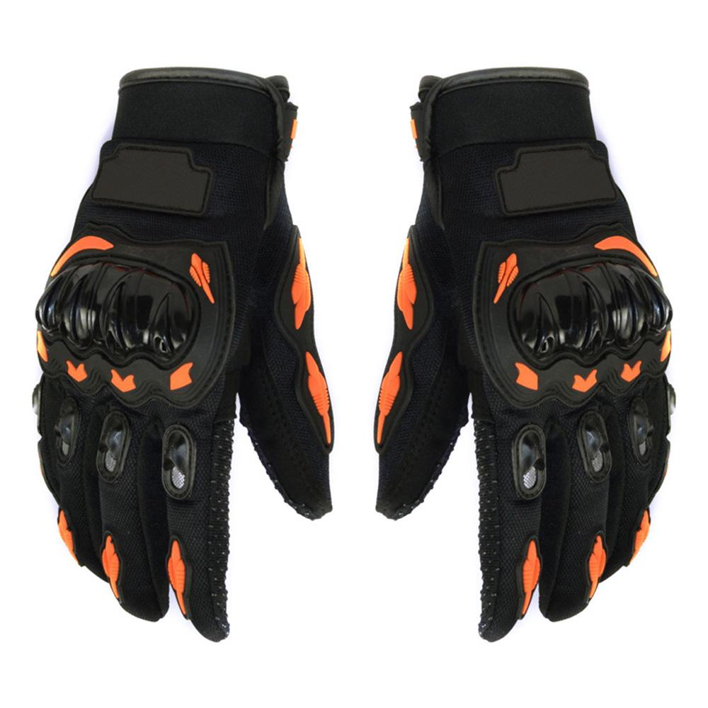3c571b153b80f7 Full Finger Motorcycle Gloves Breathable Perforated Motorbike Racing ...
