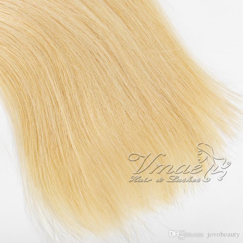 Preços por Atacado Direto Duplo Drawn 613 Loiro 100g cutícula Alinhados prebonded Virgin Humano russo Nano anel de extensões do cabelo