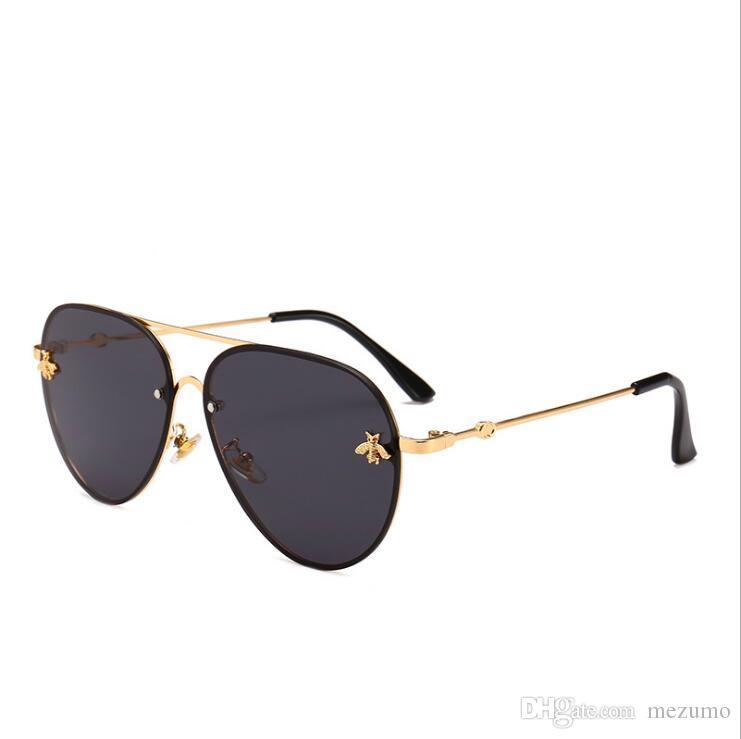 a155146ca707 Luxury Brand Design Round Sunglasses Women Men Brand Designer ...