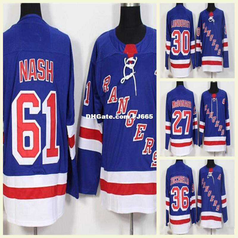 2019 2018 Mens AD New York Rangers Jerseys 30 Henrik Lundqvist Mats  Zuccarello Stadium Series Rick Nash Hockey Jerseys Blank Ryan McDonagh Blue  From ... 134dcdb33