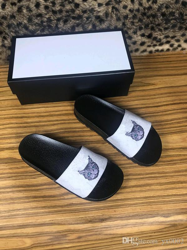651640bb2 2019 Designer Brand Sandals Fashion Women s Sandals Women WITH BOX Luxury  Flower Printed Rivets Unisex Beach Flip Flops Slipper Hx18102324 Slipper  Slippers ...