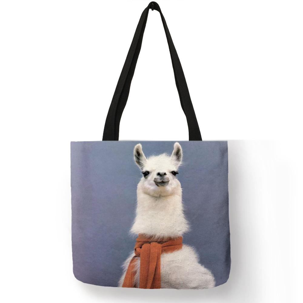 3c4b4e99c975 Cute animal pattern tote bag for girls vivid alpaca painting eco jpg  1000x1000 Cute animal purses