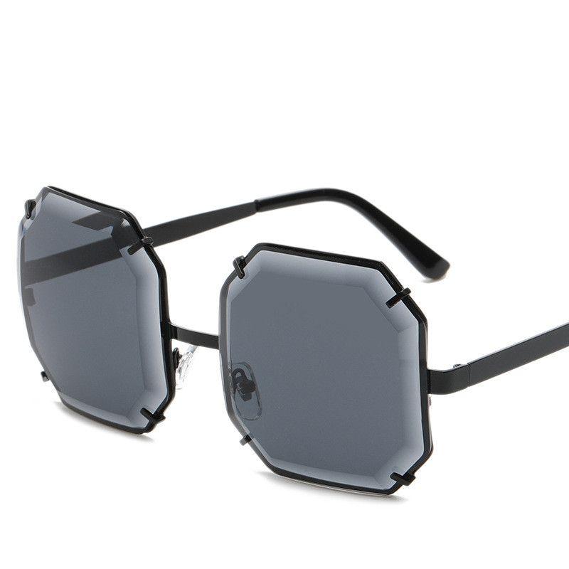 77c8460be4 ALB01 Frameless Octagon Sunglasses Blue Color Big Diamond Cut Lens Women  Lady Fashion Quality Gifts Www.BOTERN.Com Sunglasses Case Knockaround  Sunglasses ...